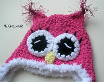 Owl Hat-Custom Made to Order-newborn to adult