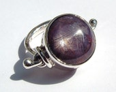 Star Ruby/Sapphire archaic inspired sterling silver ring originally designed and hand made by MonBedo.
