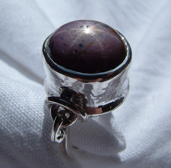 Star Ruby/Sapphire archaic inspired sterling silver ring originally designed and handmade by MonBedo.