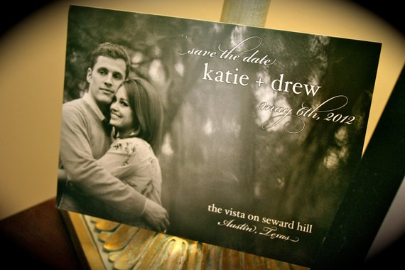 Photo Save the Date card - Custom Design File for Self-Printing