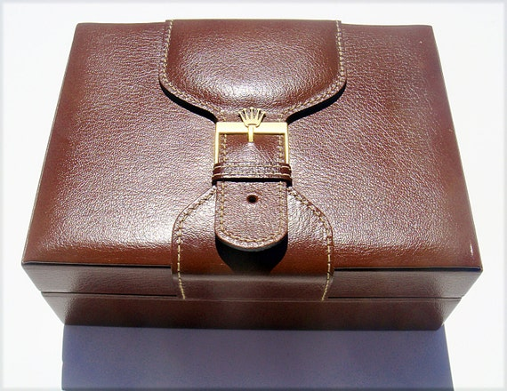 Authentic Rolex presidential leather and wood box