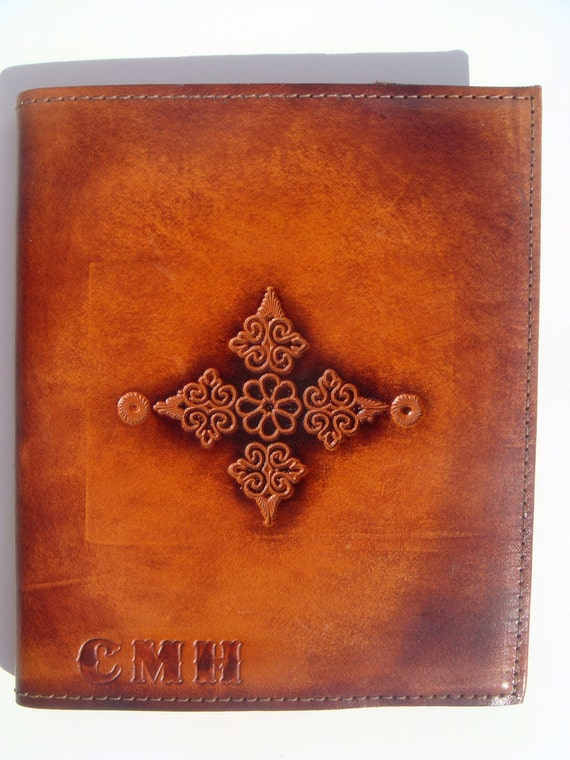 Vintage Mead address book with leather cover from craftsmen in leather