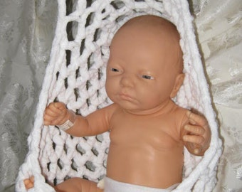 Newborn stork pouch sling, hammock sling, cocoon sling  PHOTOGRAPHY PROP Sample sale clearance item.