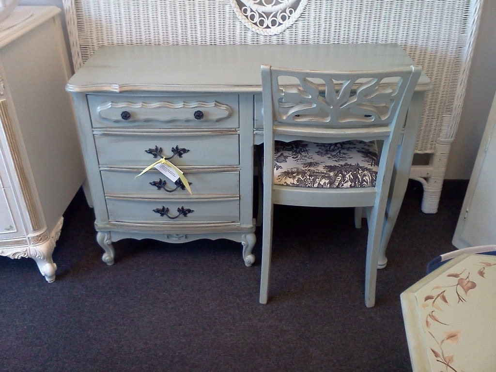 French Provincial Desk Amp Chair Shabby Chic Vintage