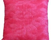 Reversible Pink Throw Pillow