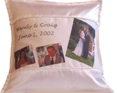 Custom Wedding Photo Pillow