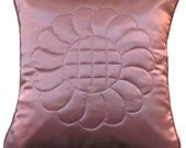 Rose Satin Quilted Pillow