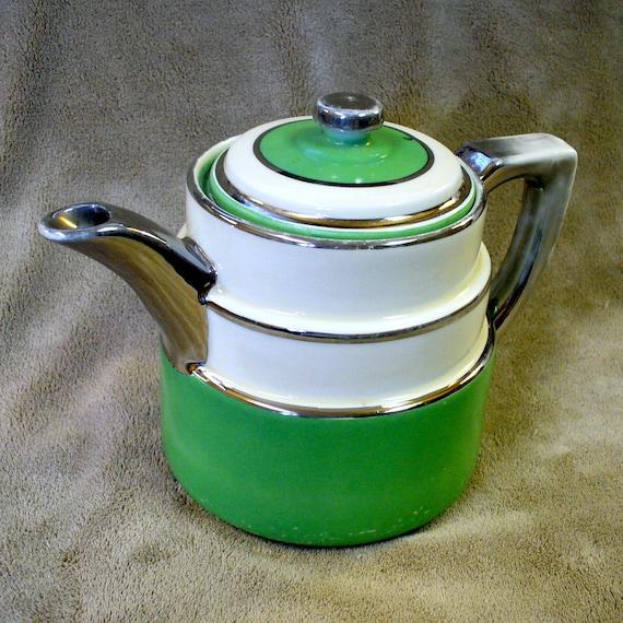 Art Deco Fraunfelter Teapot Coffee Pot By Ticktocktreasures
