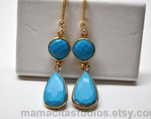 Turquoise Earrings - December Birthstone Earrings