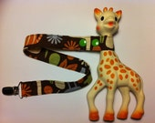 Sophie the Giraffe toy leash. Jungle Print
