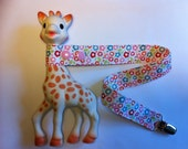 Sophie the Giraffe toy leash, Flower Print