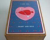 "Taylor & Ng Recipe / Trinket Box, ""I Love You Heart and Sole"" - RARE"