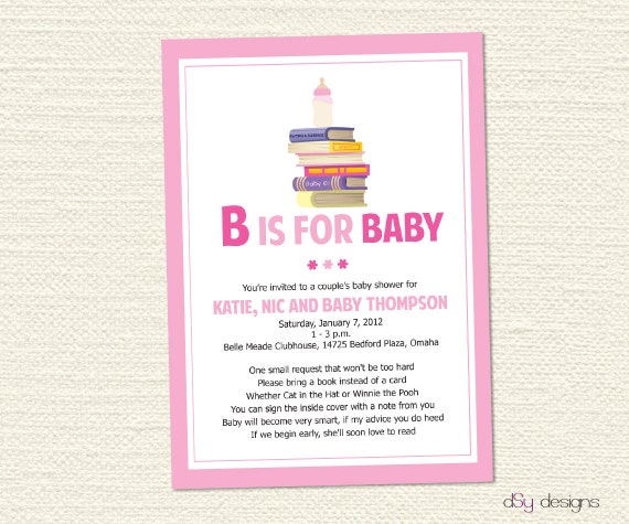 Items Similar To Book Baby Shower Invitation On Etsy