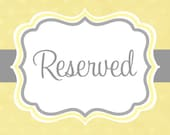 reserved for tonja