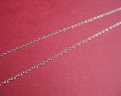 24 inch Sterling Silver Thin Oval Chain