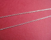 18 inch Sterling Silver Triple Rope Chain -1mm