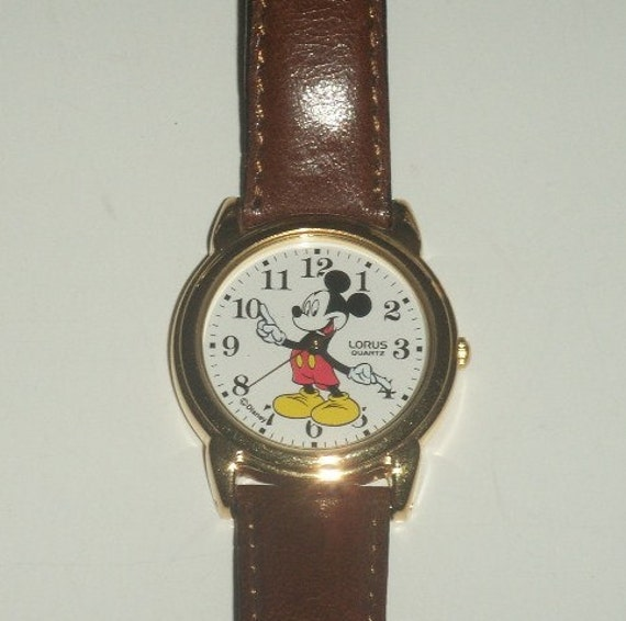 vintage mickey mouse gold watch jpg 1500x1000