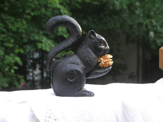 Cast Iron Squirrel Nutcracker