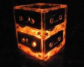 Orange Cassette Tape Night Light Repurposed