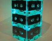 Cassette Tape Mixtape Wedding Table Lighted Centerpiece Green