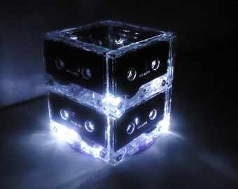 Lighted Wedding Table Centerpiece Lighted Cassette Tape Mixtape Lamp