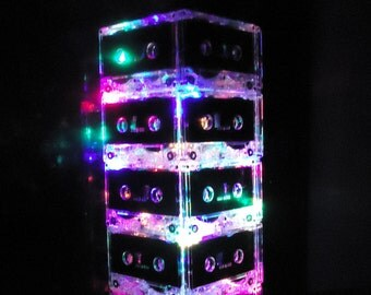 FREE SHIPPING Man Cave Lamp Cassette Tape Mixtape Night Light Lamp Multi-color