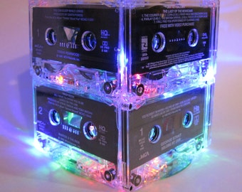 Rock n Roll MixTape Night Light Lamp Cassette Tape Mood Light for Music Lover