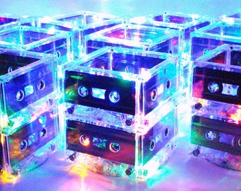 100 Unique Cassette Tape Lighted Centerpieces for Special Event Music Theme Wedding 80s Prom