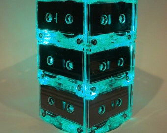 Cassette Tape Mixtape Wedding Table Lighted Centerpiece Green