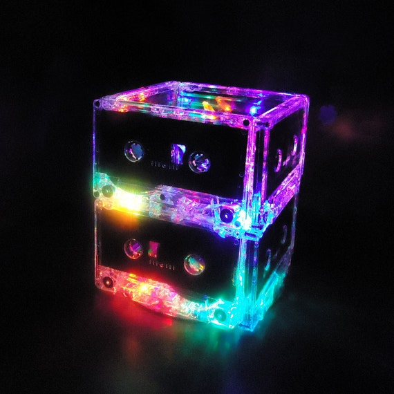 Unique Lighting Multi Color Led Cassette Mixtape Night Light