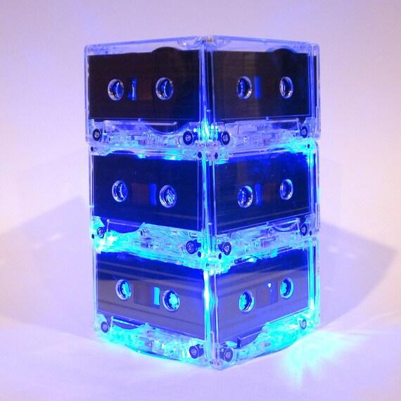 Something Blue MixTape Lighted Wedding Table Centerpiece