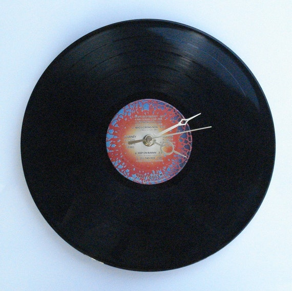 "Vinyl Record Wall Clock JOURNEY ""Escape"""