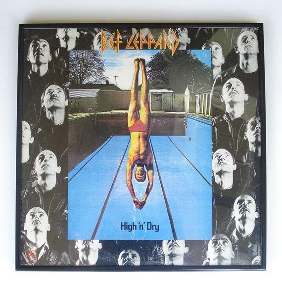 Def Leppard Framed Vinyl Record Album Cover