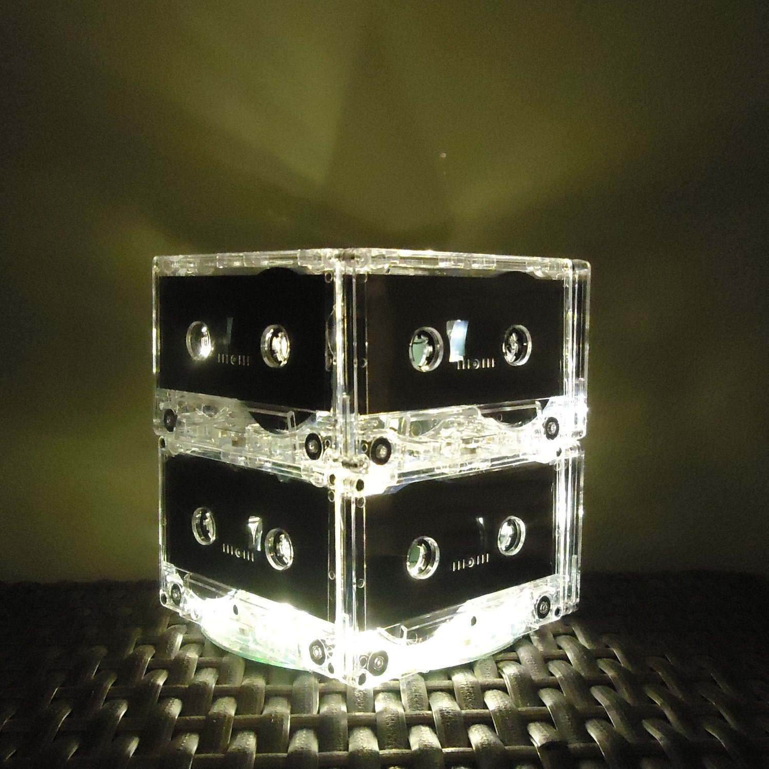 Music art mixtape cassette tape night light lamp white led for 80 s table decoration ideas
