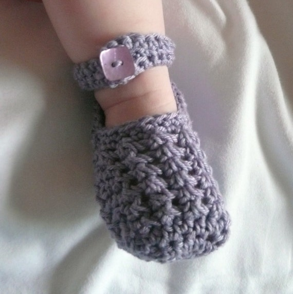 Crochet PATTERN BABY Booties Lavender Lacy Baby by ...