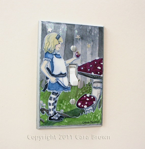 Alice in Wonderland magical light switch plate cover
