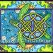 Sea Turtle Celtic Knotwork Painting Blank Greeting Card or Art Print