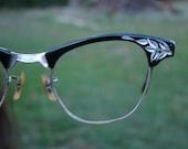 Vintage 50s cat eye horn rimmed frames C6 CLEARANCE