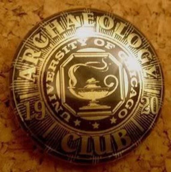Archaeology Club Pinback INDIANA JONES PROP 1920