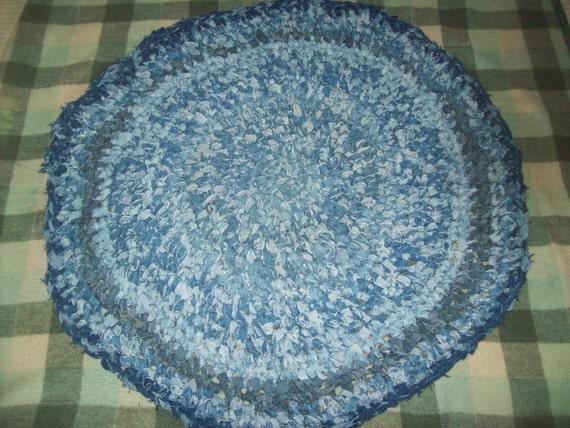 Melmac Denim Crochet Round Upcyled Rag Rug