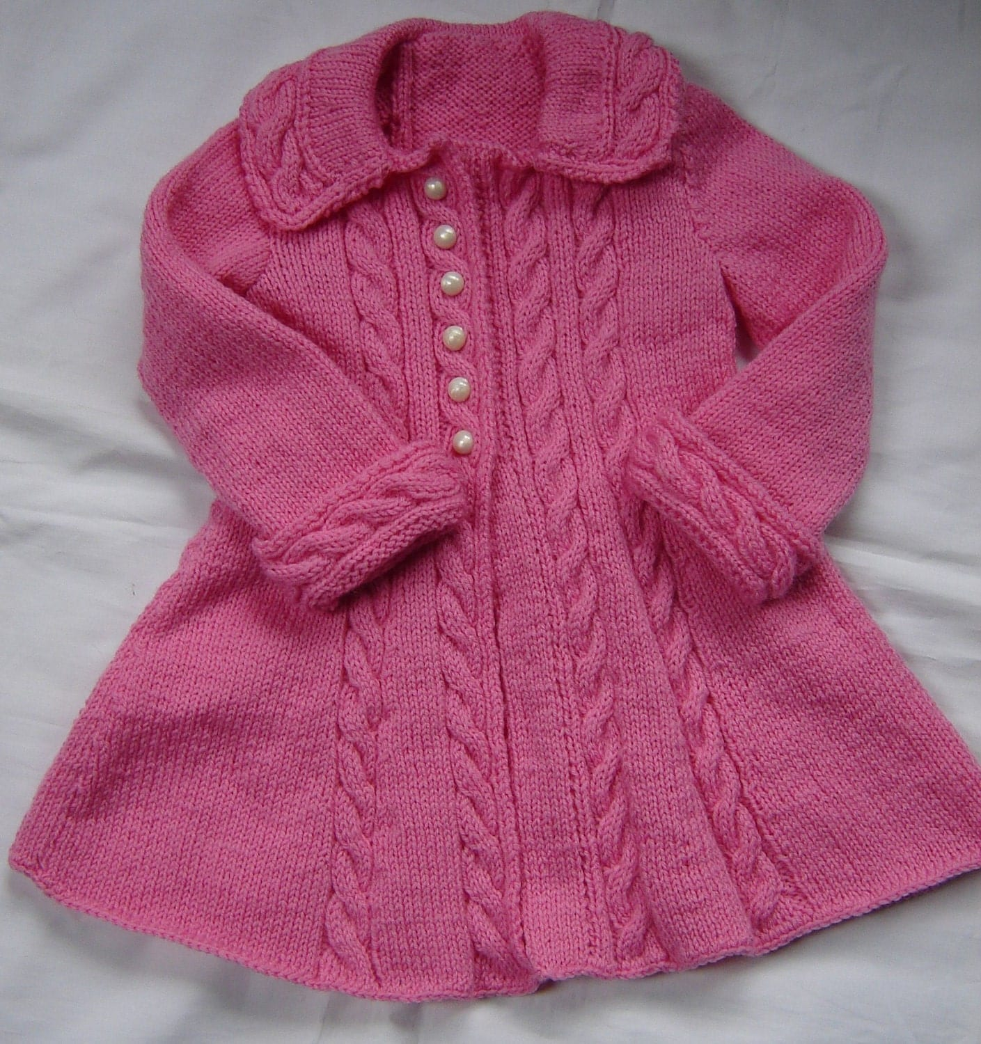 Baby Girls Toddler Sweater Coat Swing Style Hand by SwanAvenue