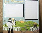 Just Married Wedding 12 x 12 Pre-Made Scrapbook Page