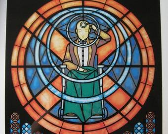 Rose Window - Original X-men Stained Glass Illustration