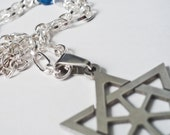 Necklace Stainless Steel Sterling Silver Star of David