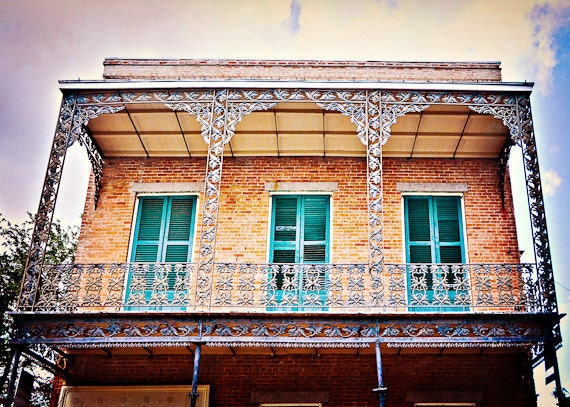 St. Louis Street House- New Orleans Photography- Green Shutters