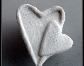 Bisque Stamp,  stoneware clay stamp, for ceramic clay, polymer clay, metal clay, soap and crafts. ( 0073 )