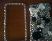 Bedazzled Black and White ipod touch case