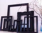 Vintage Black Frames, Funky Home Decor, Unique Frames, Wall of Frames
