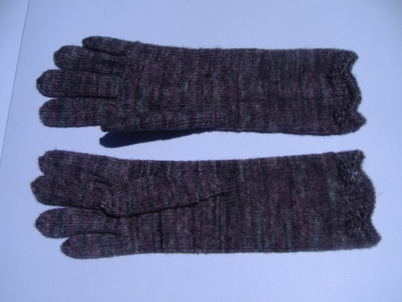 Hand Knitted Gloves, 100% Merino Wool