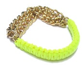 Neon Cobra- Gold chain bfrend bracelet